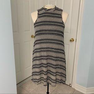 Mock Neck Knit Style Dress